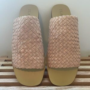 New St.Agni Woven Leather Sandals
